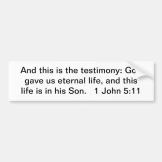 Jesus, unser ewiges Leben! Autoaufkleber