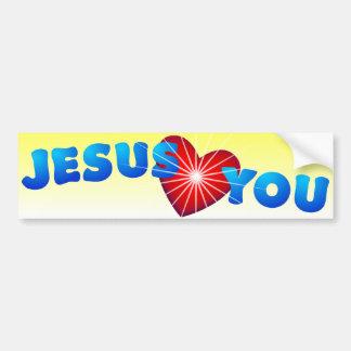 Jésus vous aime autocollant de voiture