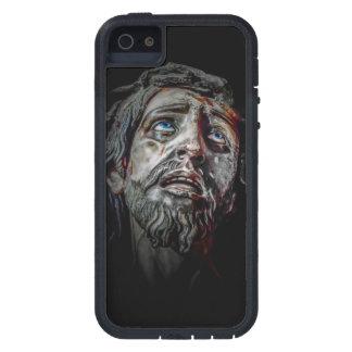Jesuschrist stellen dunkles Plakat gegenüber iPhone 5 Etui