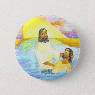 Jesuss Taufe Runder Button 5,1 Cm