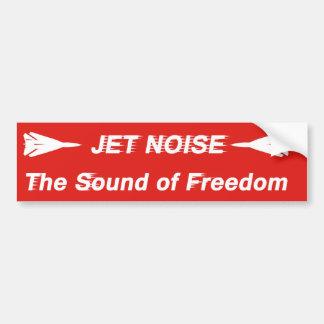 Jet-Geräusche Autoaufkleber