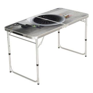 Jet-Motor-Heckklappen-Größe Pong Tabelle Beer Pong Tisch