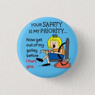 Jetlagged Comic | Ihr Sicherheits-runder Knopf Runder Button 3,2 Cm