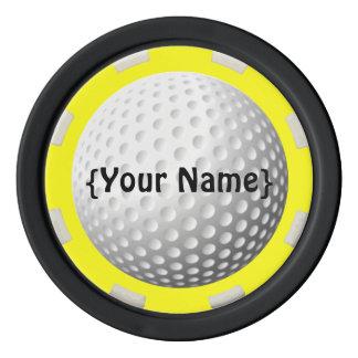 Jeton de poker d'observateur de boule de golf