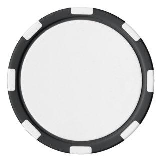 Jetons de poker avec le bord rayé noir