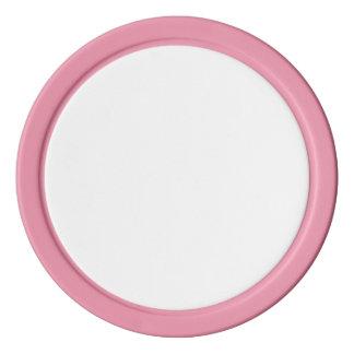 Jetons de poker avec le bord solide rose