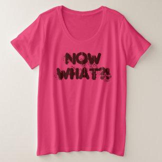 JETZT WAS?! Lustiger Entwurf durch Aleta Große Größe T-Shirt