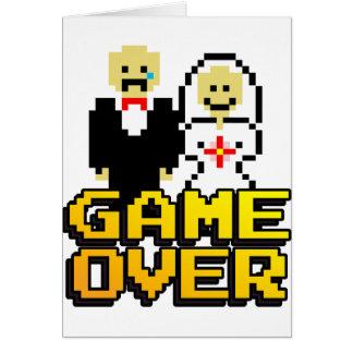 Jeu au-dessus du mariage (à 8 bits) carte