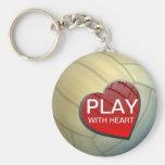 Jeu avec le volleyball Keychain de coeur Porte-clef