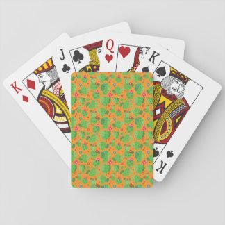 Jeu De Cartes Cactus je cartes de jeu d'extérieur (orange) -