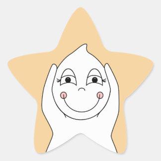 Jeu de fantôme de bébé sticker en étoile