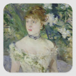 Jeune fille dans une robe de boule, 1879 sticker carré