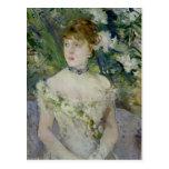 Jeune fille dans une robe de boule, 1879 cartes postales
