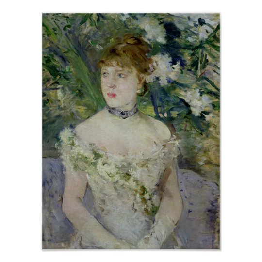 Jeune fille dans une robe de boule, 1879 poster