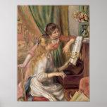 Jeunes filles au piano, 1892 affiche