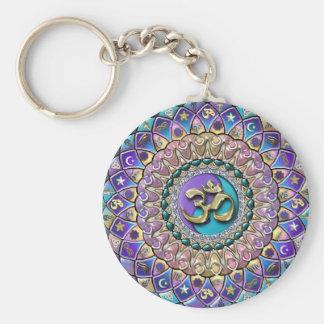 Jeweled Astrosymbology Mandala Keychain Standard Runder Schlüsselanhänger