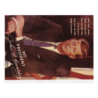 JFK Kennedy Präsident Postkarte
