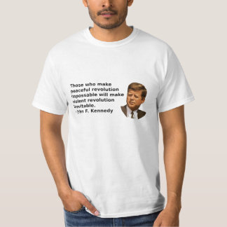 JFK Revolutions-Zitat T-Shirt