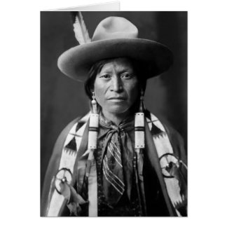 Jicarilla Apache Cowboy Grußkarte