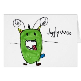 Jigglywoo • Ian Mann, Alter 6 Mitteilungskarte