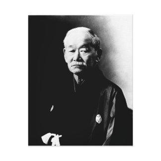 Jigoro Kano eingewickelte Leinwand Leinwand Druck