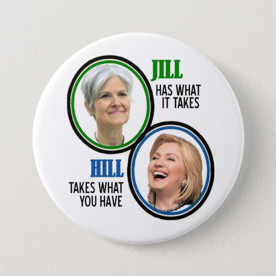 Jill Stein 2016 Runder Button 7,6 Cm