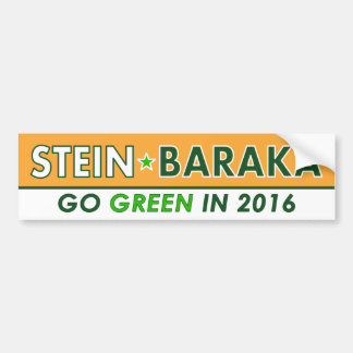 Jill Stein/Baraka - grüner Party-Autoaufkleber Autoaufkleber