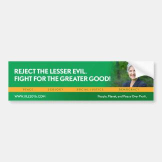 Jill Stein für Präsidenten/grünen Autoaufkleber