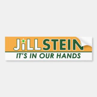 Jill Stein - grünes Party-politischer Autoaufkleber