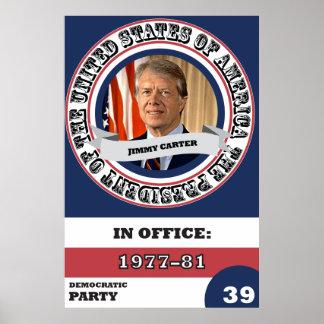 Jimmy Carterpräsidentengeschichte Retro Poster