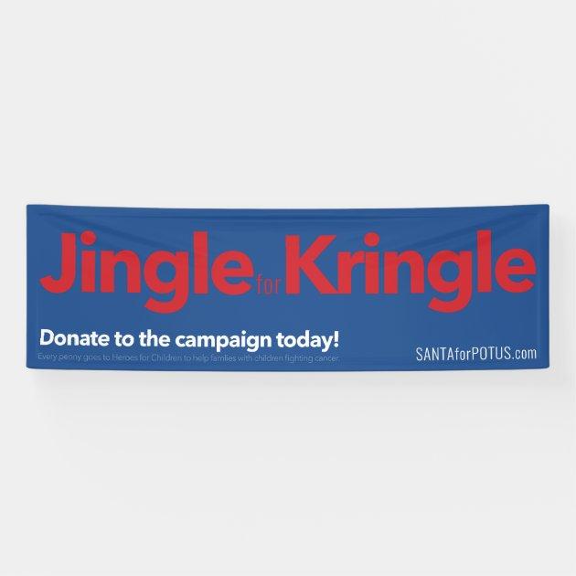 """""""Jingle für Kringle"""" 8' x 2,5' Fahne Banner   Zazzle"""