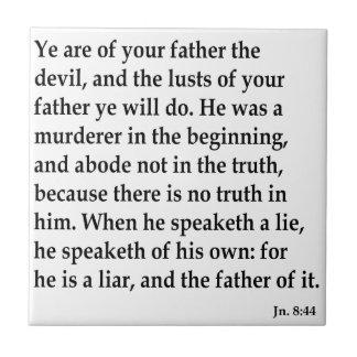 Jn. 8:44, w keramikfliese