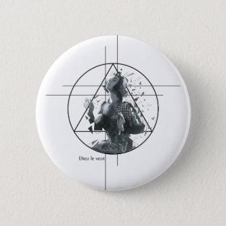 Joan d'Arc Runder Button 5,7 Cm