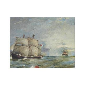 Joaquin Sorolla - Segelboote im Meer Leinwanddruck