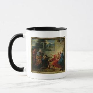 Job, der von seiner Ehefrau, c.1790 gescholten Tasse