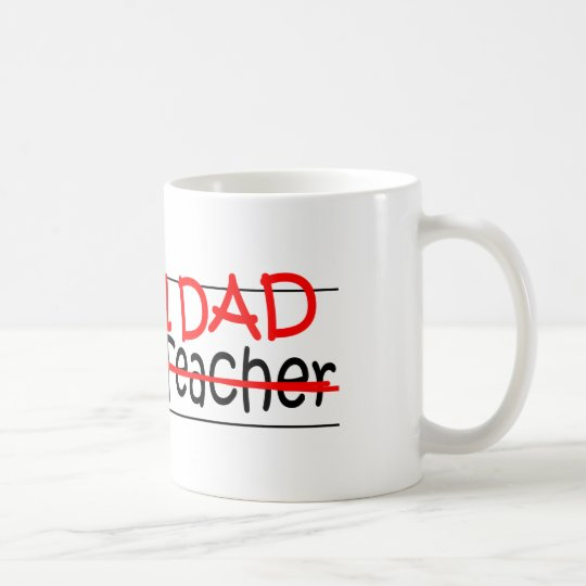 Job-Vati-Lehrer für Wissenschaft Kaffeetasse
