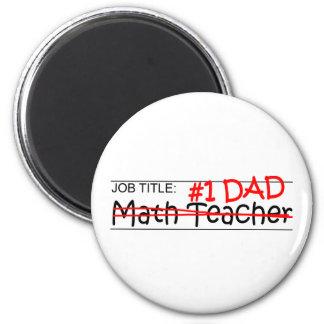 Job-Vati-Mathe-Lehrer Runder Magnet 5,7 Cm