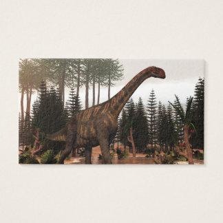 Jobaria Dinosaurier - 3D übertragen Visitenkarte