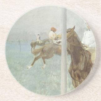 Jockeys vor dem Rennen durch Edgar Degas Getränkeuntersetzer