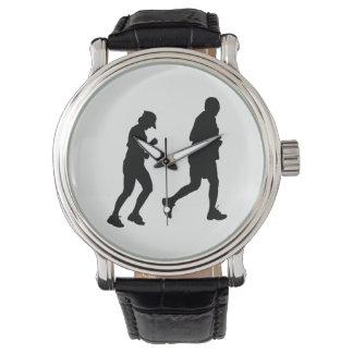 Joggen-Silhouette Armbanduhr