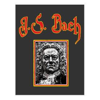Johann Sebastian Bach - barocke Musik Postkarte