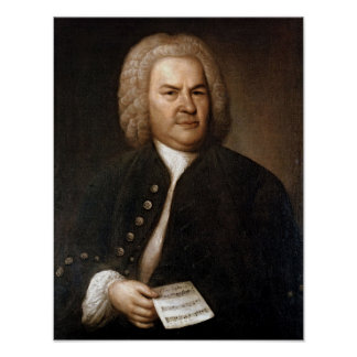 Johann Sebastian Bach-Porträt Poster