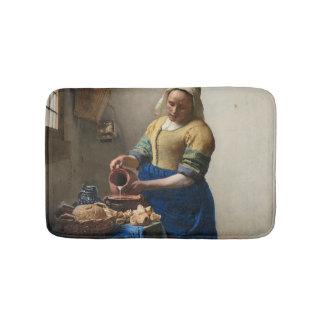 JOHANNES VERMEER - Der Milkmaid 1658 Badematte