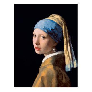 Johannes Vermeer, Mädchen mit einem Perlen-Ohrring Postkarte