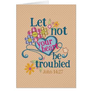 John-14:27 ließ nicht Ihre Herzen beunruhigt Karte