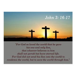 John-3:16 - 17 Schrifts-codierte Karte