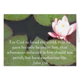 John-3:16 christliches Inspirational Zitat Karte