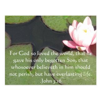 John-3:16 christliches Inspirational Zitat Postkarte