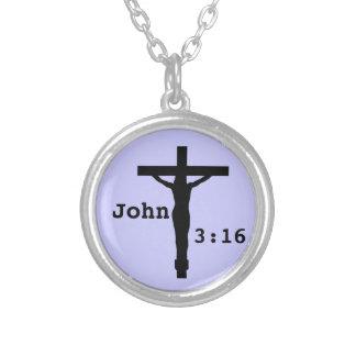 John-3:16 Halskette Mit Rundem Anhänger
