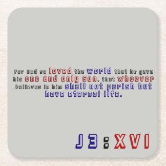 John-3:16 Rechteckiger Pappuntersetzer